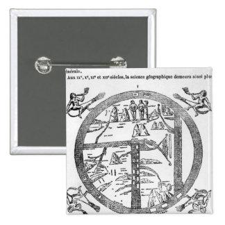 Beatus del mappamundi de Turín Pin Cuadrado
