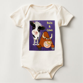 Beaty and the Beast Cow styles Baby Bodysuit