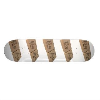 Beau as Beryllium Be and Gold Au Skateboard Deck