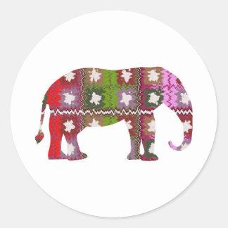 BEAU Elephant Round Sticker