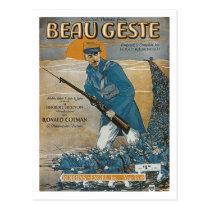 Beau Geste Vintage Songbook Cover Postcard