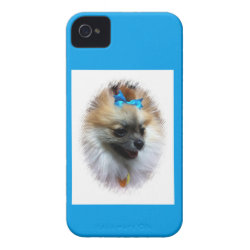 Beau-Nanna Blue Bow iPhone 4 Cover