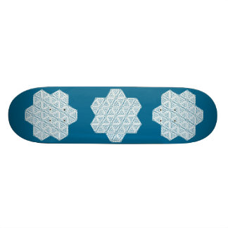 Beau Snored-The Six Pointed Skateboard-BLUE