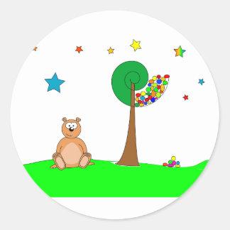 Beau the Bear Classic Round Sticker
