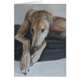 Beau the Greyhound Dog Art Note Card