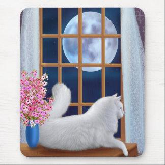 Beau the Moon Cat Mousepad