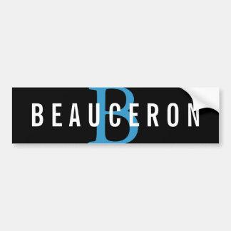 Beauceron Breed Monogram Design Car Bumper Sticker