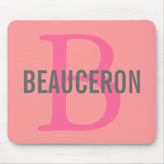 Beauceron Breed Monogram Design Mouse Pad