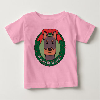 Beauceron Christmas Baby T-Shirt