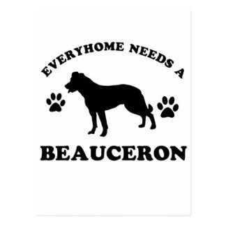 Beauceron dog breed designs postcard