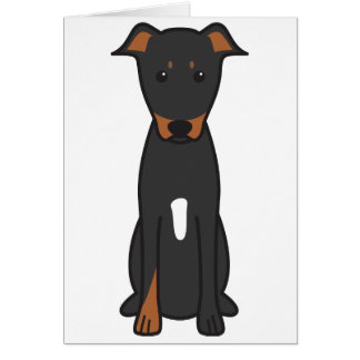 Beauceron Dog Cartoon Card