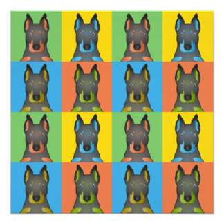 Beauceron Dog Cartoon Pop-Art Photograph