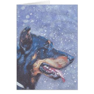 Beauceron Dog Christmas Card