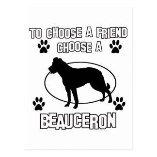 beauceron DOG designs Postcard