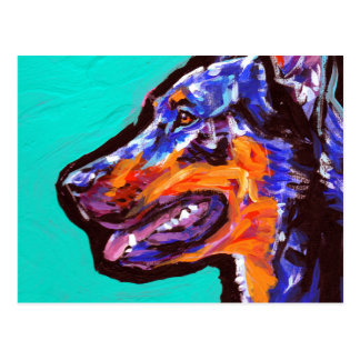 beauceron Dog Pop Art Postcard