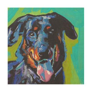 beauceron Dog Pop Art Wood Wall Art