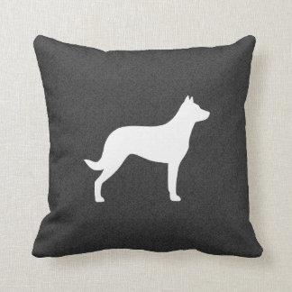 Beauceron Dog Silhouette Pillow