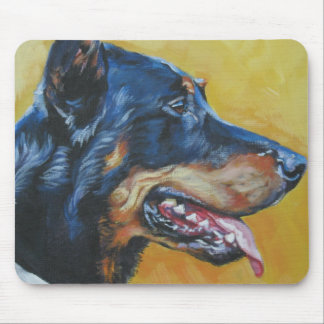 beauceron Fine Art Painting Mouse Pads