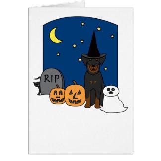 Beauceron Halloween Card