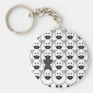 Beauceron in the Sheep Keychain