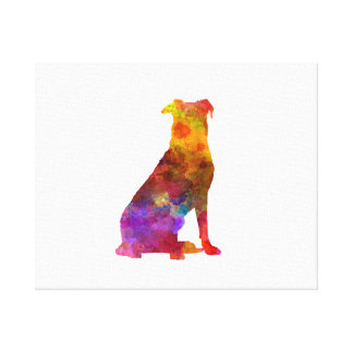 Beauceron in watercolor canvas print