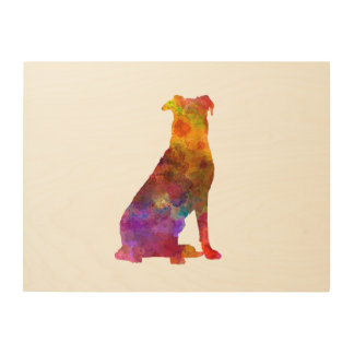 Beauceron in watercolor wood wall decor