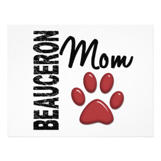 Beauceron Mom 2 Personalized Flyer