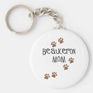 Beauceron Mom Keychain