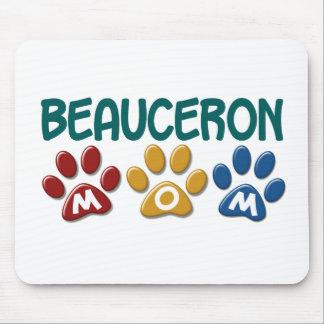 BEAUCERON MOM Paw Print Mouse Pad