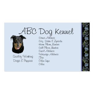 Beauceron on Black Bluebells Double-Sided Standard Business Cards (Pack Of 100)