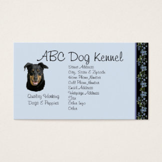 Beauceron on Black Bluebells Business Card