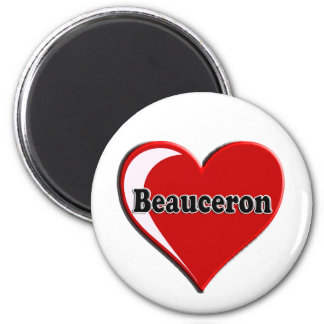 Beauceron on Heart for dog lovers Magnet