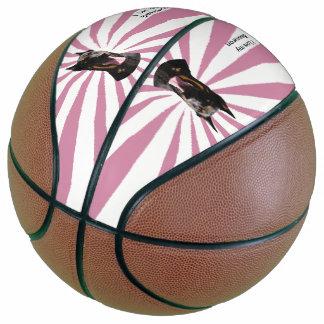 Beauceron on White Starburst Basketball