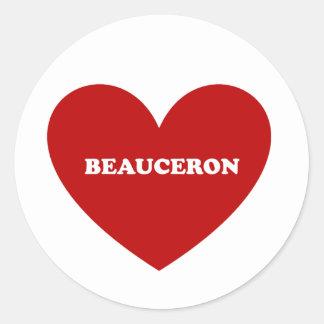 Beauceron Pegatina Redonda