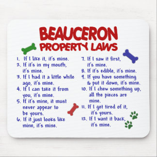 BEAUCERON Property Laws 2 Mouse Pad