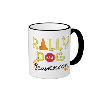 Beauceron Rally Dog Ringer Mug