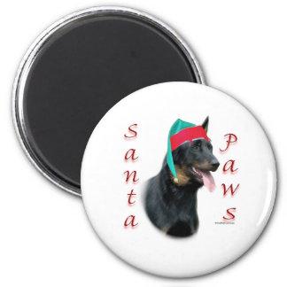 Beauceron Santa Paws Magnet