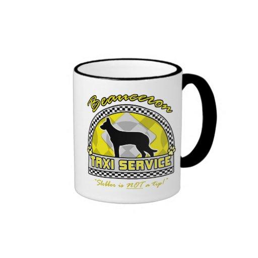 Beauceron Taxi Service Ringer Mug