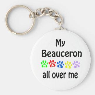 Beauceron Walks Design Keychain