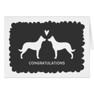 Beauceron Wedding Congratulations Card