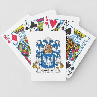 Beauchamp Family Crest Bicycle Playing Cards