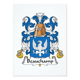 Beauchamp Family Crest Card