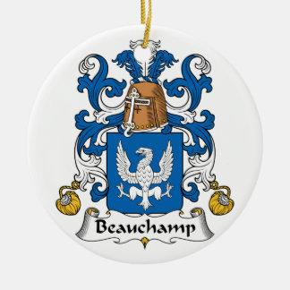 Beauchamp Family Crest Ceramic Ornament
