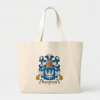 Beauchamp Family Crest Large Tote Bag