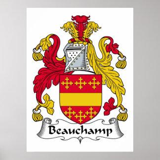 Beauchamp Family Crest Poster