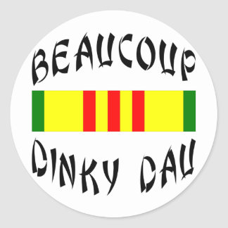 Beaucoup Dinky Dau Vietnam Classic Round Sticker