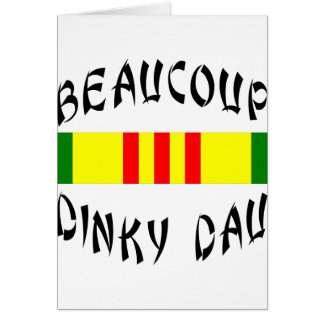 Beaucoup Dinky Dau Vietnam Greeting Card