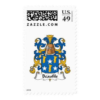 Beaufils Family Crest Postage Stamp