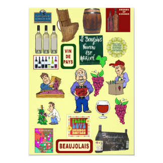 "Beaujolais Nouveau 5"" X 7"" Invitation Card"