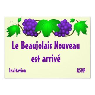 "Beaujolais nouveau invitation cream 5"" x 7"" invitation card"